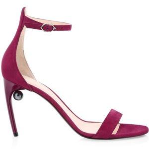 NWT Nicholas Kirkwood Mia Faux Pearl Suede Sandals